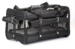 Sherpa on Wheel Dog Carrier Bag, Large, Black