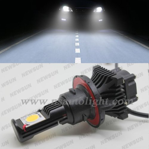 Newsun H13 50W Cree Led Headlight Cxa1512 Cree Chip 1800Lm Xenon White 5000K 12/24V Car Truck Universal H13 Headlamp
