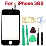 Replacement iPhone 3GS LCD Touch Screen Glass Digitizer & Adhesive + Screen Cleaning Clothby Neewer