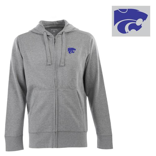 NCAA Kansas State Wildcats Full Zip Hoodie, Grey Heather, X-Large Amazon.com