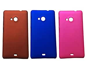 Winsome Deal Hard Back Cover Case for Nokia Lumia 535 (Pack Of 3)