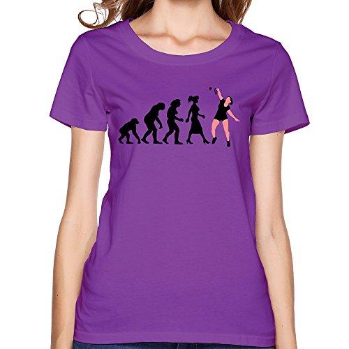 Zhitian Women'S Evolution Badminton Spielerin T-Shirt - L Purple