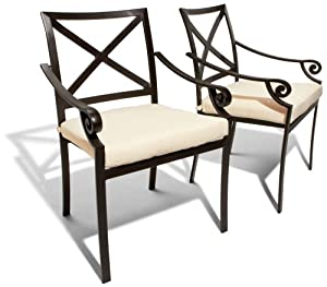 Strathwood Falkner Dining Arm Chairs, Set of 2