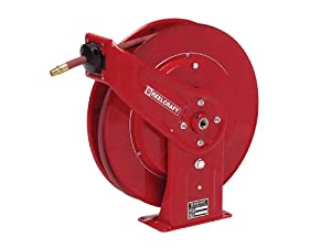 Reelcraft 7650 OLP 3/8-Inch by 50-Feet Spring Driven Hose Reel for Air/Water