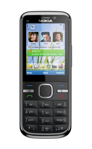 Nokia C5-00 5MP Sim Free Mobile Phone - Black