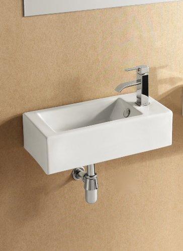 Great Deal Elite Sinks Ec9899 L Porcelain Wall Mounted