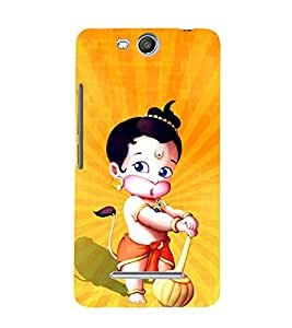 Little Hanuman Cute Fashion 3D Hard Polycarbonate Designer Back Case Cover for Micromax Canvas Juice 3 Q392