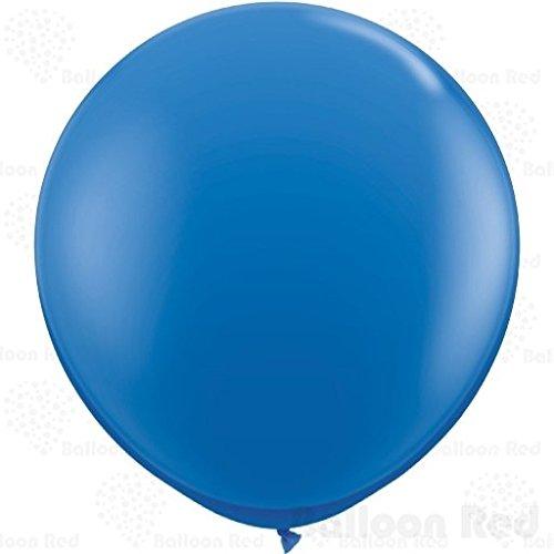 36 Inch Giant Jumbo Latex Balloons (Premium Helium Quality), Pack of 12, Blue