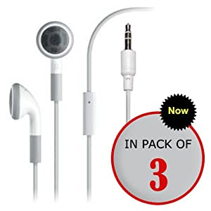 3 Pack Premium Stereo Headset Headphone Earphone w/ Microphone for Apple iPhone 4 4S 3G 3GS (White, SmackTom Packaging) with SmackTom Logo Silly band