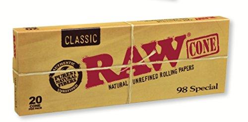 RAW-Classic-Natural-Unrefined-Pre-Rolled-Cones-20-Cones-per-Box-98-Special-Size
