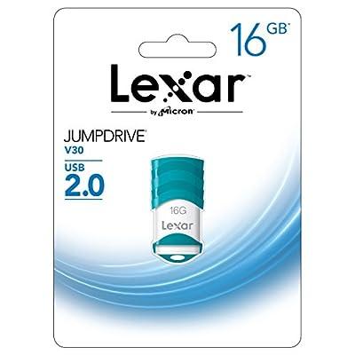 Lexar JumpDrive V30 16GB USB 2.0 Flash Drive - LJDV30-16GABNL (Teal)