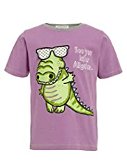 Crew Neck Alligator Print T-Shirt