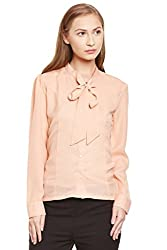 PURYS Peach Bow Tie Shirt - Small