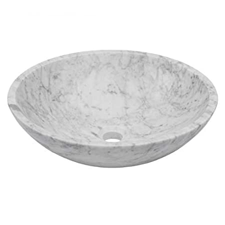 "Miseno MNO-WC Circular 17"" Vessel Bathroom Sink, Brushed Nickel Drain"