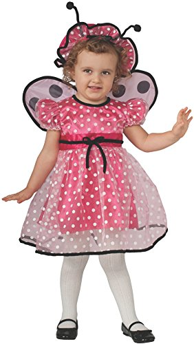 Rubie's Costume Baby Girl's Pink Lady Bug Toddler Costume