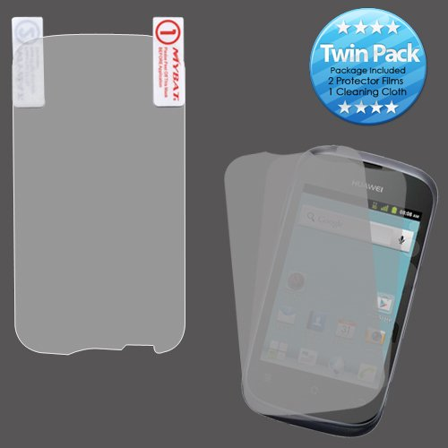 MYBAT HWM866LCDSCPRTW LCD Screen Protector for Huawei Ascend Y M866 - Retail Packaging - Twin Pack