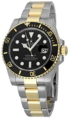Rolex Submariner Black Index Dial Oyster Bracelet Mens Watch 116613BKSO by Rolex