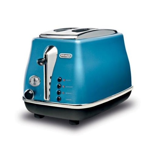 de 39 longhi cto2003b grille pain toaster grille pain icona 2 tranches bleu azur. Black Bedroom Furniture Sets. Home Design Ideas