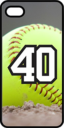 iPhone 5c Case Softball Dirt Mound Any Custom Jersey Number 40 Black Plastic (Iphone 5c Case Softball Pitcher compare prices)