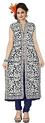 Indian Boutique Blue Color Georgette Fabrics Stylish Suit