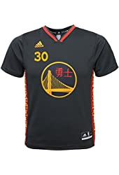 Stephen Curry NBA Adidas Golden State Warriors Chinese New Year Youth Replica Jersey