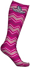 Gonzaga University Bulldogs Socks Chevron Pink Design pair one size fits all