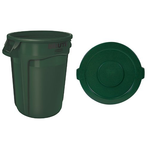 rubbermaid-commercial-brute-trash-can-vented-32-gallon-dark-green-with-lid-fg263200dgrn-fg263100dgrn