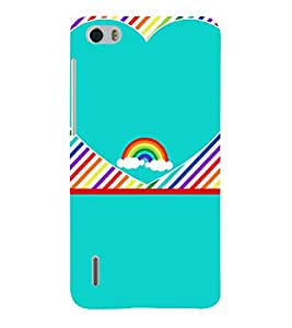 Beautiful Rainbow Pattern 3D Hard Polycarbonate Designer Back Case Cover for Huawei Honor 6