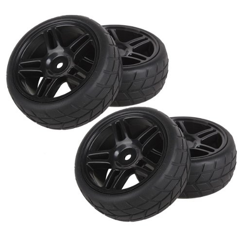 Pentagram Hub Wheel Rim&Tires HSP 1:10 On-Road RC Flat Racing Car 20111 Pack Of 4