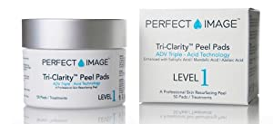 TRI-CLARITY Skin Clarifying Peel Pads - Enhanced with Salicylic Acid 15% | Mandelic Acid 5% | Azelaic Acid by PERFECT IMAGE