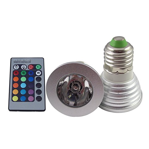 3W E27 Rgb 16 Colors Changing Remote Control Holiday Flash Party Led Spot Downlight For Christmas