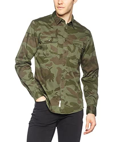 Dockers Camisa Hombre Uniform Twill New British Verde Camuflaje