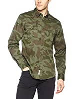 Dockers Camisa Hombre Uniform Twill New British (Verde Camuflaje)