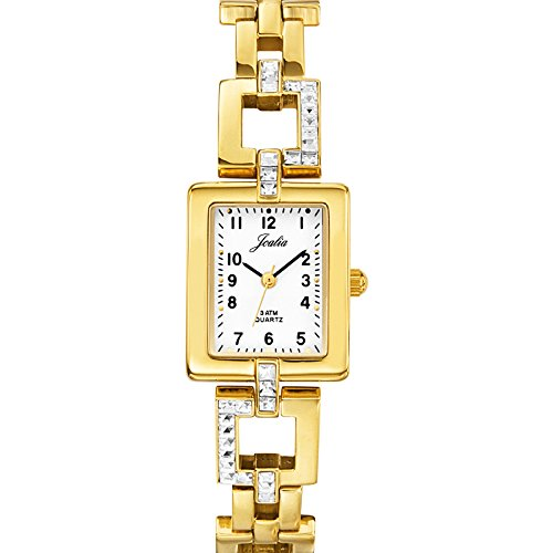 Certus 631417 - Ladies Watch - Analogue Quartz - White Dial - Golden Metal Strap