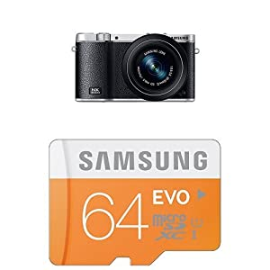 Samsung NX3000 with 20-50mm Compact Zoom and Flash + 64GB EVO Class 10 Micro SDXC