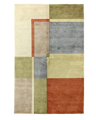 Bashian Harmony Blocks Wool Rug, Multi, 5' 9 x 8' 9