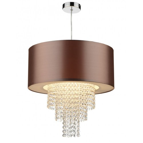Lopez Non Electric Gold Lampshade with Acrylic Decoration