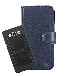 DooDa Genuine Leather Wallet Flip Case Cover With Card & ID Slots For Samsung Galaxy Avant - Back Cover Not Included Peel And Paste