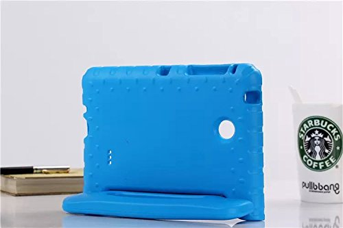 Tab 4 8.0 Shockproof Cases Light Weight Kids Case Super Protection Cover Handle Stand Case by ISAKO? for Samsung Galaxy Tab 4 8.0 Inch SM-T330 (Blue)