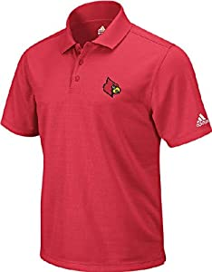 Louisville Cardinals Red Arch Logo Mens Climalite Polo Shirt by Adidas by GametimeUSA