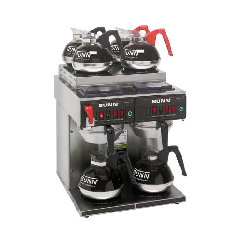 BUNN CWTF 4/2 Twin 12-Cup Automatic Coffee Brewer, Two Brew Heads, Two Lower Warmers, Four Upper Warmers