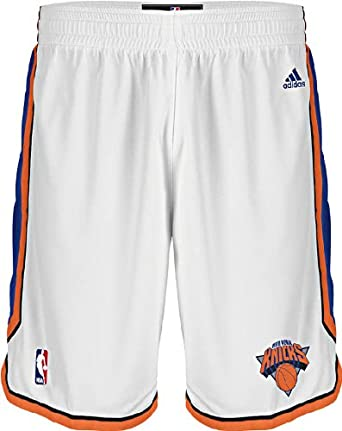 New York Knicks White Swingman Shorts By Adidas by adidas