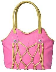 Bsb Trendz Women's PU Handbag (Green & Pink)