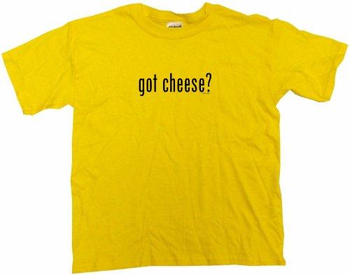 Got Cheese Kids Tee Shirt Youth Small-Yellow