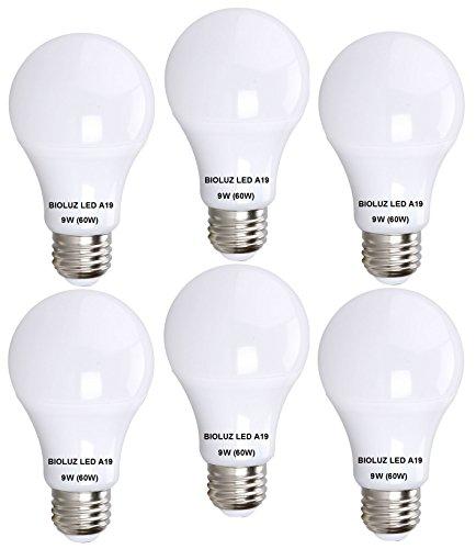 Bioluz LED A19 6-pack - 60 Watt Equivalent Soft