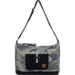 Roxy Over The Sand Messenger Shoulder Bag, Dusty Olive, One Size