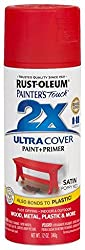 Rust-Oleum 277994 Painter's Touch 2x Spray Paint Satin - POPPY RED