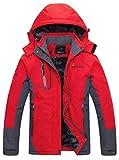 WantDoレディース アウトドアジャケット スキーウェア 裏ボアフリース スポーツ ハイキング ウインドブレーカー