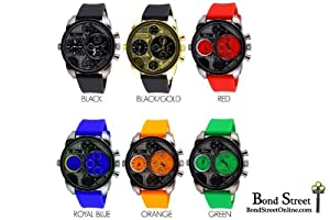 Wholesale Lot of 6 Pcs Geneva Diesel Inspired Silicone Watch - 8119