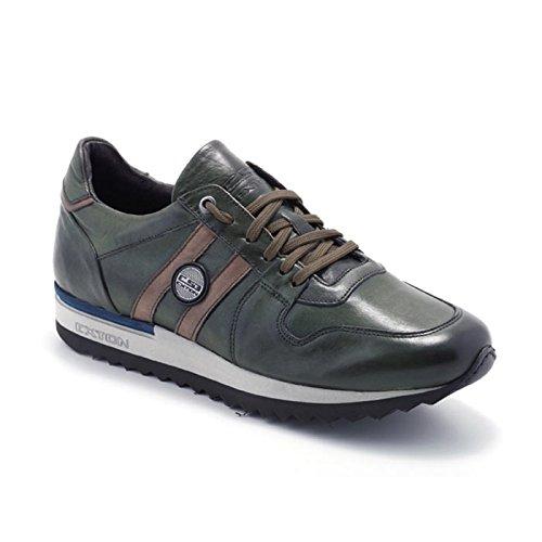 Sneaker Uomo Bassa Enna Verde 555 - Exton, 43